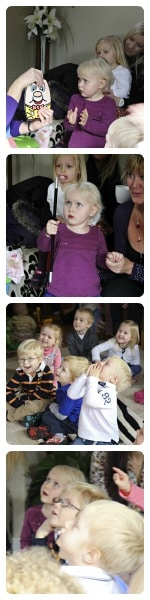 childrens entrainment at a 3 year old birthday party
